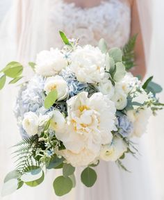 Light blue and white bouquet