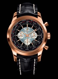 Transocean Chronograph Unitime with Black Leather Strap from @Breitling 305.935.9350
