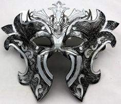 Vintage Roman Greek Gladiators Warrior Costume Venetian Masquerade Men's Mask #Handmade