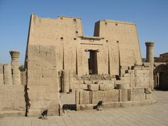 The Temple of Edfu is an ancient Egyptian temple located on the west bank of the Nile in the city of Edfu and it was dedicated to god Horus. So it is also called as temple of Horus.   #Egyptiantemple   #Edfutemple