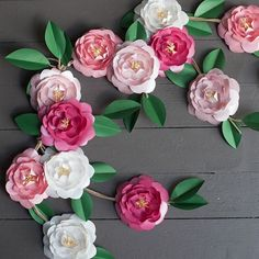 Camellia DIY Paper Flowers | These pretty printable paper flowers can be used for home decor, parties, weddings, and more!