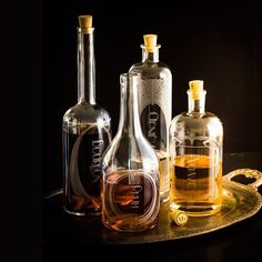 Spirit decanters made from re-purposed liquor bottles and beautifully laser etched- at Makers Market. $199 Made in the USA.