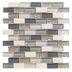 Smart Tiles 6-Pack White, Beige, Brown Linear Mosaic ...