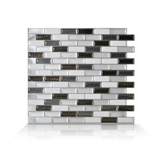 Murano - Metalik *3-d effect, self-adhesive wall tile *easy to install...peel and stick *guaranteed to stick on backsplash and over existing tiles and painted walls
