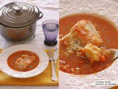 Receta de bacalao en salsa de azafrán con hinojo