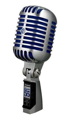Shure - Micrófono vocal de lujo Súper 55 - Gris