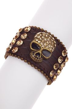 I know what I am getting my daughter for X-Mas - a leather studded skull cuff with crystal embellishments and beaded trim