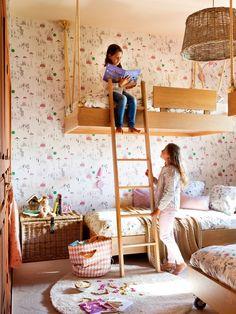 00404654. Habitación infantil con literas y papel pintado 00404654