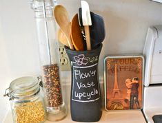 from contributing writer Kristen If the ones you love like to give flowers, then you probably have a number of flower vases floating around your house, taking up space.  If you are running out of places to store them, consider these 10 ways to use a vase. Utensil Holder Upcycle a flower vase by decorating it …