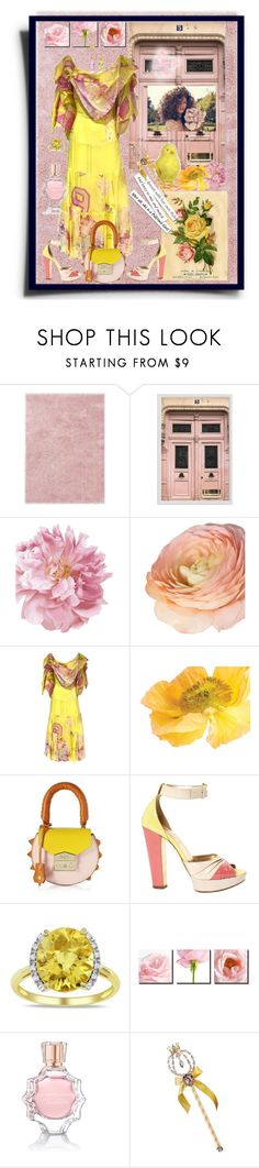 """Beauty in Pink & Yellow"" by sherrysrosecottage-1 ❤ liked on Polyvore featuring Ted Baker, Pottery Barn, John Galliano, SALAR, Miu Miu, Miadora, Oscar de la Renta, Disney and Anabela Chan"