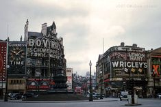 1955: Piccadilly Circus — Lost Colour Library Piccadilly Circus, Guinness, Times Square, England, Lost, London, Water, Pictures, Travel