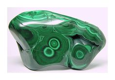 Dark and Light Green Malachite Polished Stone by FenderMinerals