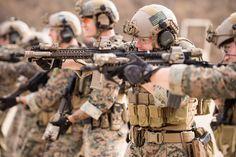 Marine Raiders conducting tactical vehicle and weapons training. December 2015. Photo by Rhett Stansbury.