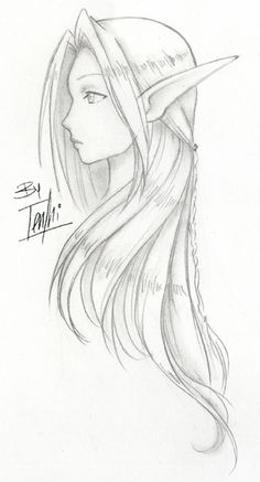 Pin by ashley maddox on beautiful sketches in 2019 Elf Drawings, Fairy Drawings, Creature Drawings, Fantasy Drawings, Cool Art Drawings, Pencil Art Drawings, Anime Drawings Sketches, Beautiful Sketches, Art Reference Poses
