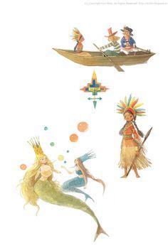 Peter Pan characters / © Kim Minji - illustrator