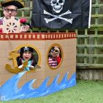 Cardboard Pirate Ship (Photo Booth & Play Ship)