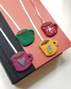 Felt Tea Cup Bookmarks - NEEDLEWORK, You are able to appreciate breakfast or different time times using tea cups. Tea cups also provide ornamental features. When you go through the tea cup models, you will dsicover this clearly. Kids Crafts, Felt Crafts Diy, Felt Diy, Cute Crafts, Crafts To Make, Fabric Crafts, Sewing Crafts, Simple Crafts, Kids Diy