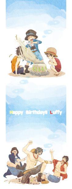 Ace, Sabo, Luffy