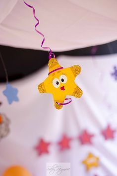 Stars! decorations-  can use the dollar store foam shapes all over just paint faces on some of them!!!!!