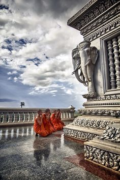 Phnom Penh, Cambodia. It looks like the place could be floating in the sky. Like an Air Bending temple.