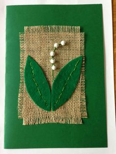 lily of the valley embroidery Fish Crafts, Flower Crafts, Spring Art, Spring Crafts, Kirigami, Crafts For Kids, Arts And Crafts, Jr Art, Textile Fiber Art