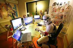 Computadores ganham destaque em quarto geek