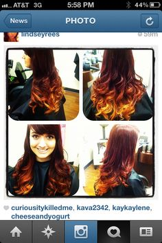 My ombre hair!!! :) red and gold