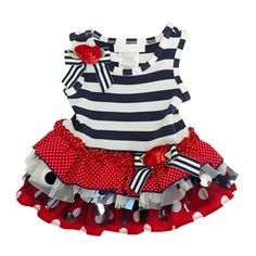 Bonnie Baby Infant Girl Patriotic Tutu Dress