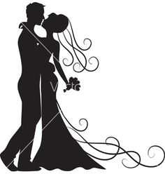Kissing groom and bride vector - by Prikhnenko on VectorStock®