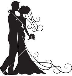Kissing groom and bride vector - by Prikhnenko on VectorStock®