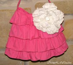 Ruffle Tote Bag  Shabby Chic Pink by asweetliferocks on Etsy, $23.00