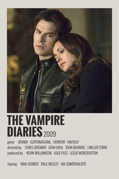 The Vampire Diaries, Vampire Diaries Poster, Vampire Diaries Wallpaper, Iconic Movie Posters, Iconic Movies, Film Posters, Film Polaroid, Polaroids, Poster Minimalista