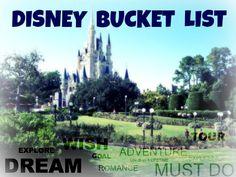 Creating A Personal Disney 'Bucket List'