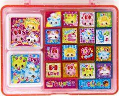 kawaii stamp set bunny cat bear sheep from Japan