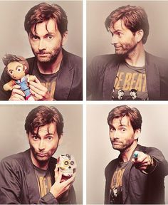 Holy TARDIS of Gallifrey... AND he's wearing a beatles shirt..