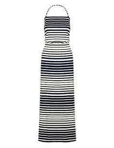 Striped Bandeau Maxi Dress Clothing