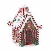 """6.5"""" Gingerbread Kisses LED Lighted Claydough Church Christmas Decoration 6.5"""" Gingerbread Kisses LED Lighted Claydough Church Christmas Decoration Online $30.99 • Sold & shipped by Christmas Central"""