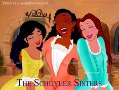 """frostyflowerr Musical edit Hamilton<<<I love this and Tiana is PERFECT as Angelica and it's funny Jasmine is Peggy because Jasmine Jones, but personality wise I don't think Jasmine would ever be """"and Peggy! Probably like Snow White or someone Hamilton Musical, Hamilton Broadway, Alexander Hamilton, Hamilton Peggy, Hamilton Angelica, Theatre Geek, Musical Theatre, Theater, Hamilton Wallpaper"""