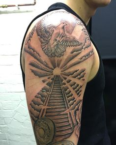 Stairway To Heaven Tattoo Sleeve 124229 large heaven ...