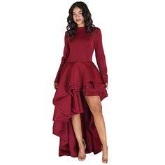 Kleid bordeaux lang rot Bordeaux Kleid