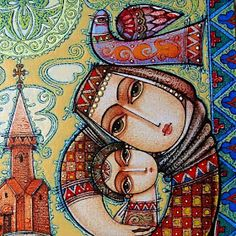Por amor al arte: Tsolak Shahinyan Catholic Art, Religious Art, Christmas Drawing, Christmas Art, Ink Illustrations, Illustration Art, Cultural Crafts, Art Populaire, Mother Art