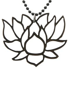 Laser Cut Large Lotus Pendant Necklace $10.99