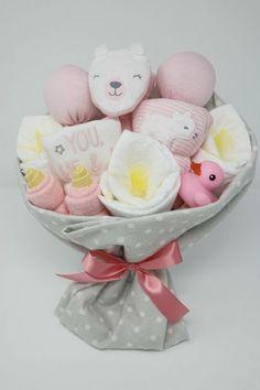Baby Girl Gift Baskets, Baby Gift Hampers, Baby Shower Gift Basket, Baby Hamper, Baby Girl Gifts, Bouquet Cadeau, Gift Bouquet, Baby Shower Bouquet, Baby Sock Bouquet