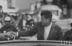 John F. Kennedy-I remember when I watched the news of his assassination.