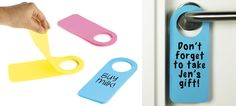 Door Handle Sticky Notes Ensure Nothing Gets Forgotten When You Leave