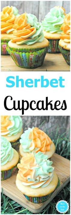 Grab this Sherbet Cupcakes recipe on Mom on the Side, and whip them up for your family, or hide them and keep them all to yourself! via @momontheside