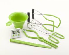 Presto 7 Function Canning Kit by Presto. $13.10. Funnel for filling regular and wide mouth canning jars. Magnetic lid lifter removes canning lids from hot water. Jar lifter easily removes hot jars from canner Jar wrench helps to remove sticky screw bands. Kitchen tongs for easy handling of hot foods for canning. Bubble remover for releasing trapped air bubbles. Includes a Digital Timer, Canning Funnel, Combination Bubble Remover/Lid Lifter, Jar Lifter, Jar Wrench an...