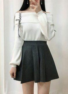 Korean Girl Fashion, Korean Fashion Trends, Ulzzang Fashion, Kpop Fashion Outfits, Korean Outfits, Mode Outfits, Korean Dress, Korea Fashion, Casual Asian Fashion