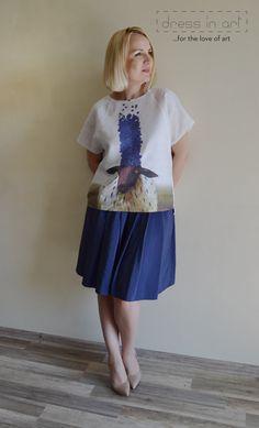 Women's blouse summer blouse blouses Linen by DressinartShop