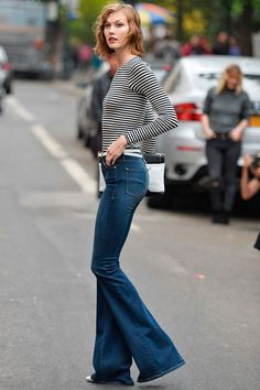 I mean.... killing it much?! Karlie in NYC. #KarlieKloss